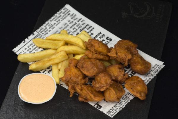 Spicy Chicken Bites & Chips
